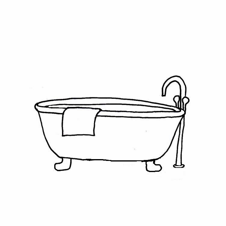 Bathtub clipart black and white, Picture #84106 bathtub.