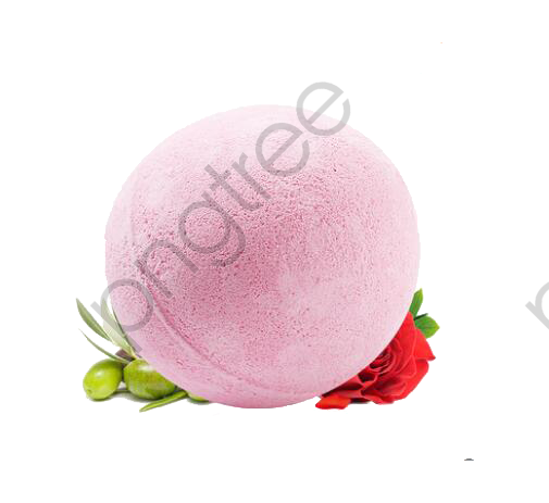 Transparent rose bath bomb PNG Format Image With Size 505*463.
