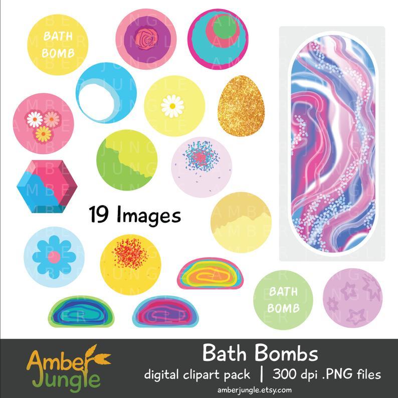 Bath Bomb Clipart.