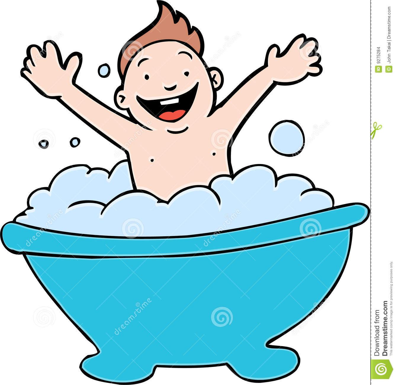 Bubble Bath Time Clipart.