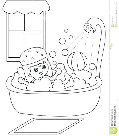 bathtub clipart black and white.