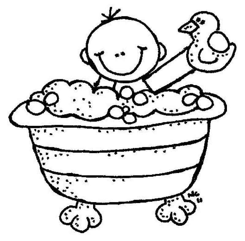 Bathroom Clipart Black And White · Bathroom Clipart Kid Bath.