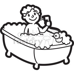 Take a bath clipart black and white 4 » Clipart Portal.