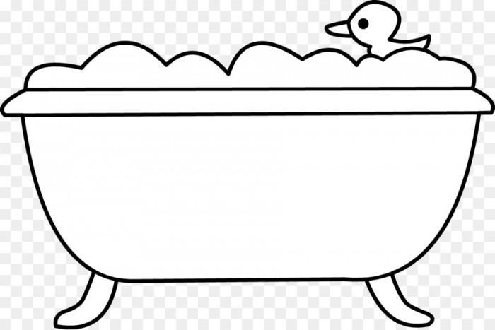 Bathtub Bathroom Bubble Bath Clip Art Tub Cliparts Png Download.