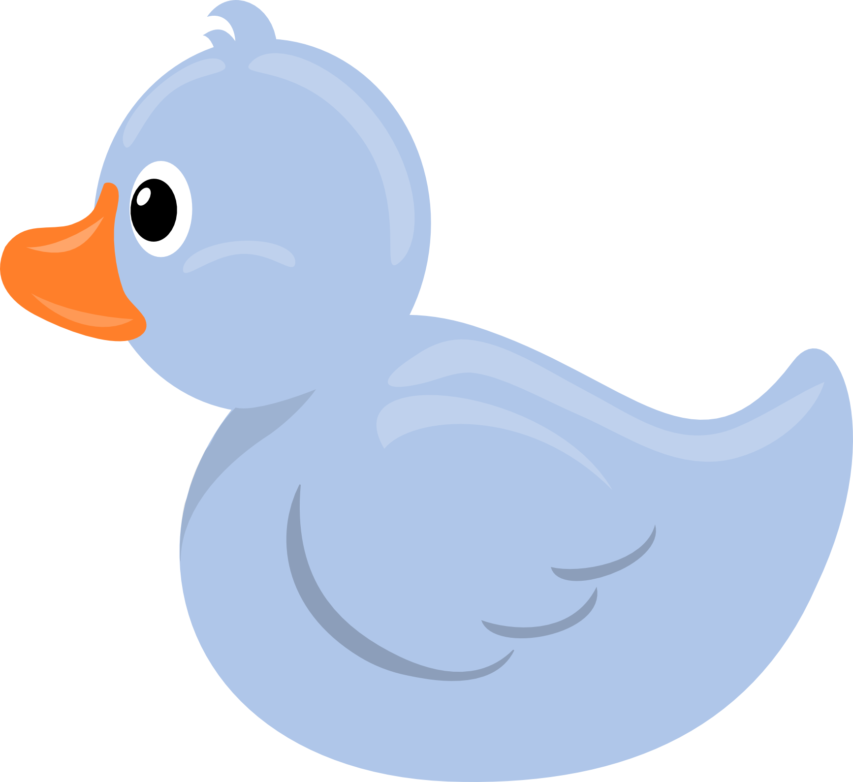 Angry rubber duck clipart.