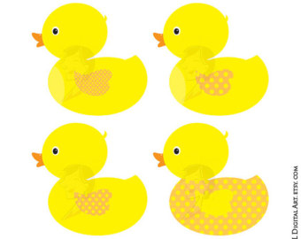Rubber ducks clipart.