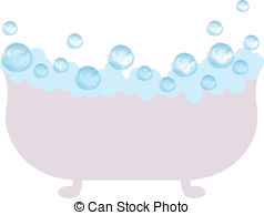 Clipart Vector of Bath with bubbles.