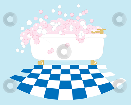 Bubble bath stock vector.