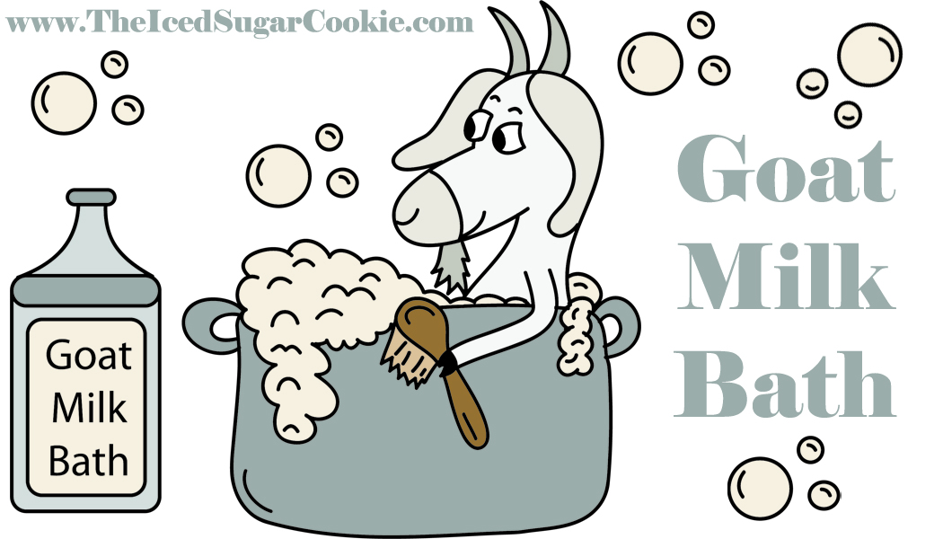 Goat milk products clipart.