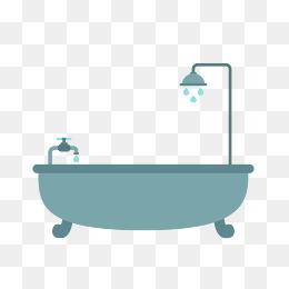 Bath Free Pull Material, Bathtub, Vector #24665.