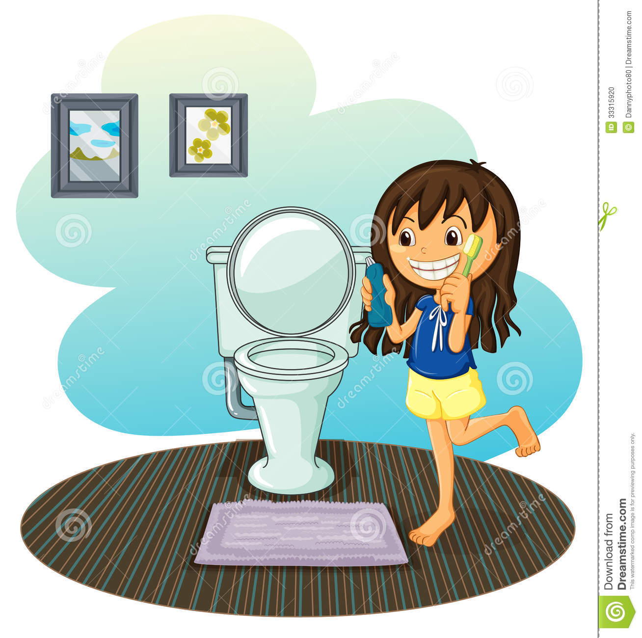 Clean Bathroom Clipart.