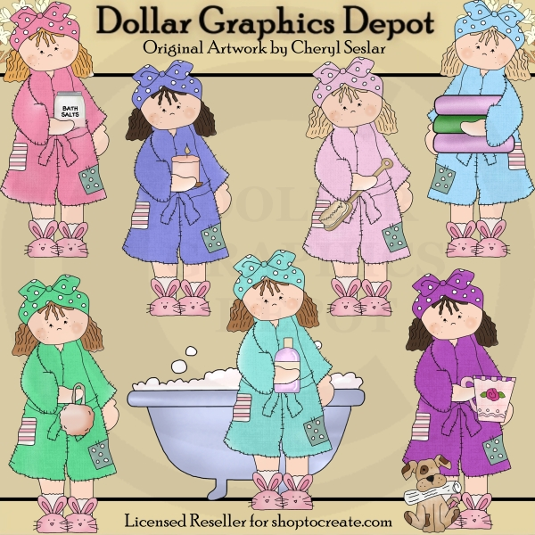 Bath Slippers Clipart
