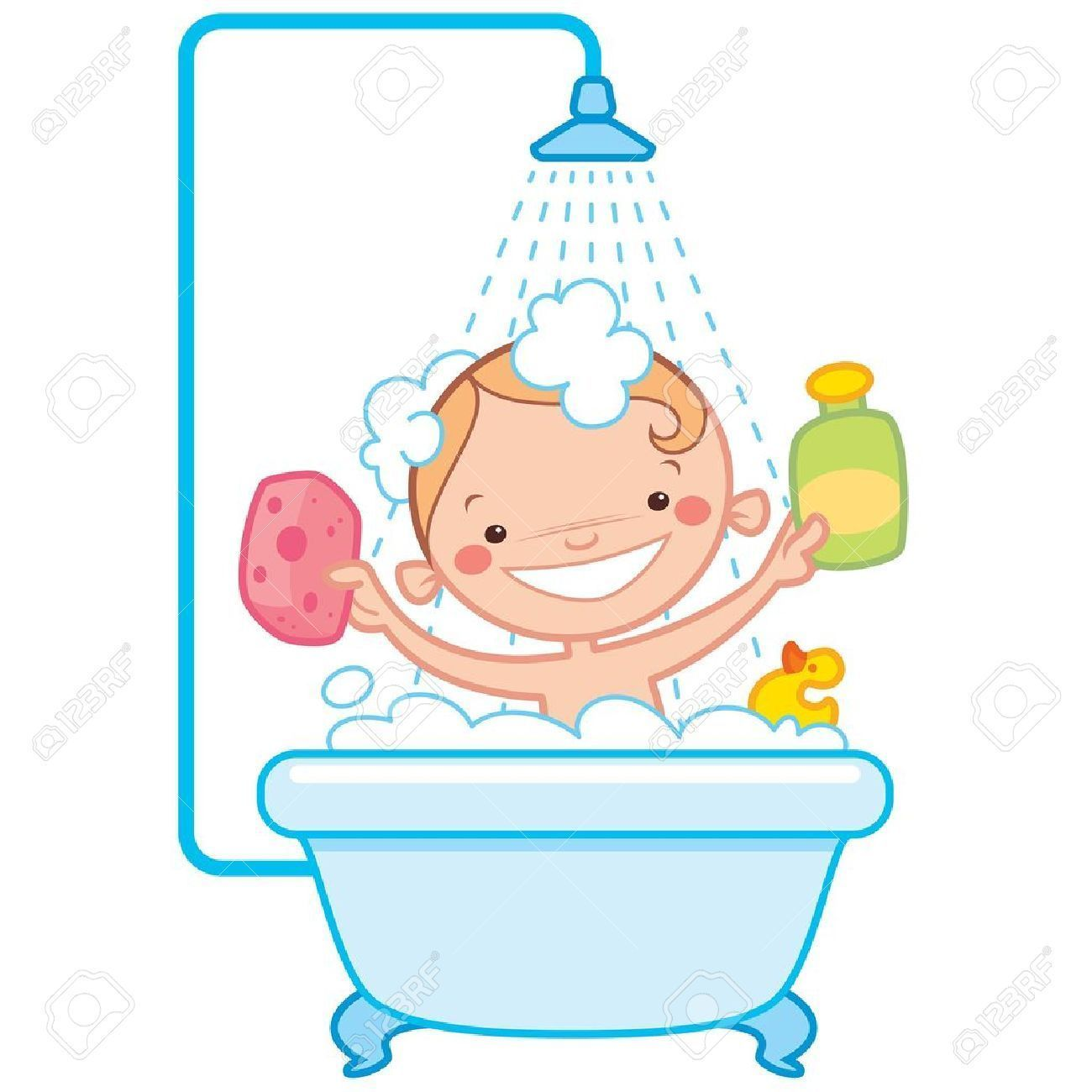 Bathtub Clipart Bath Soap Pencil And In Color Best Baby Wash Bottle.