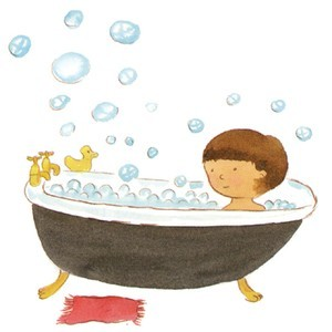 Clipart bath time.