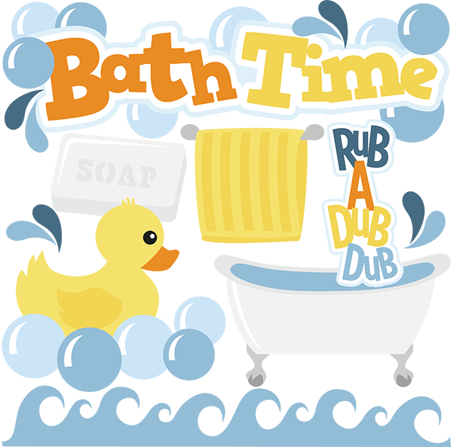 Bath Time set SVG.