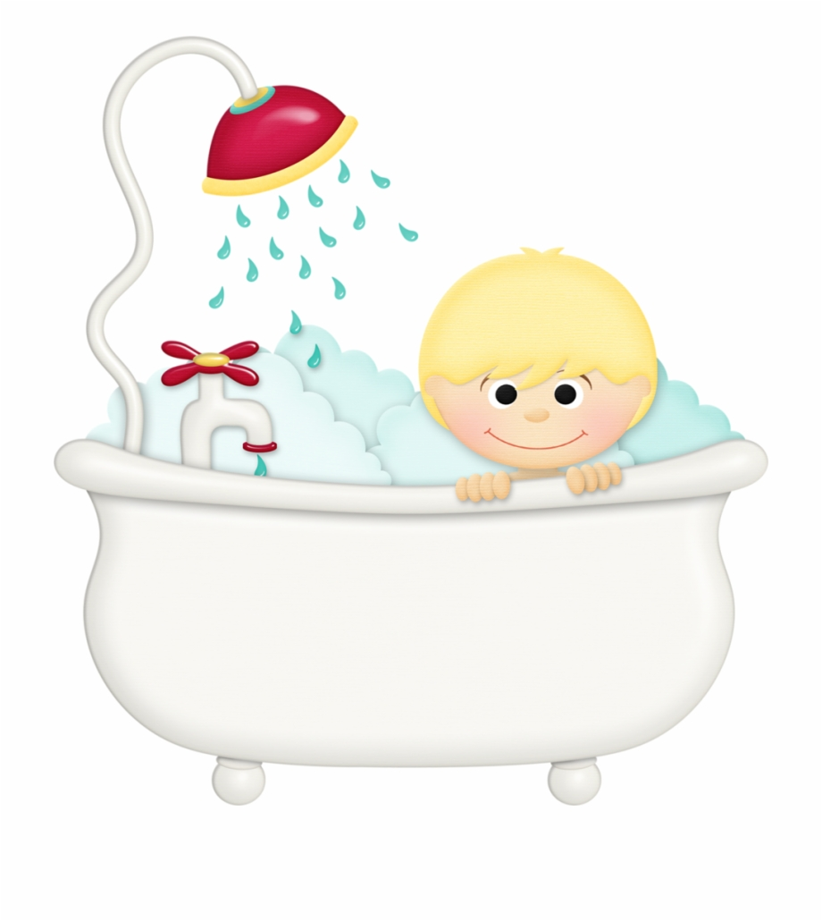 Bath Drawing Baby Tub Bath Time Clipart.