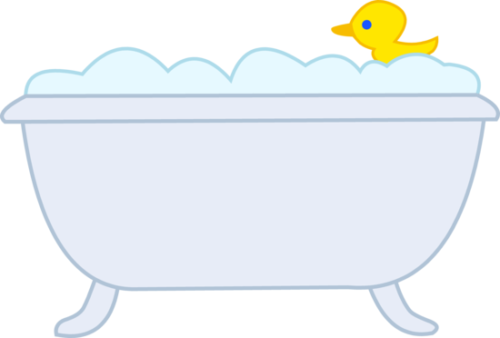 Bubble Bath With Rubber Ducky.