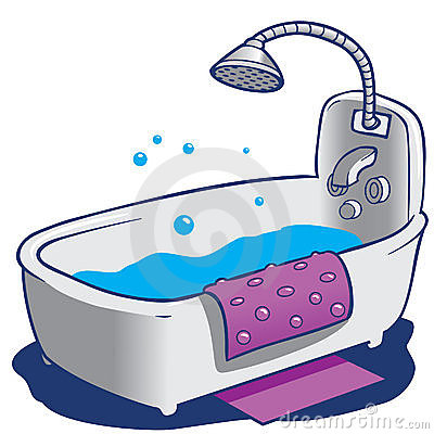 Baby Bath Tub Clipart.