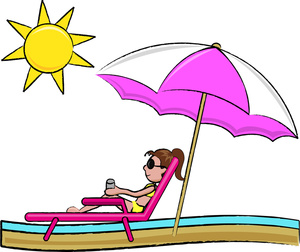 Relaxing Vacation Clipart.