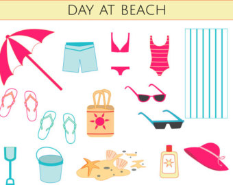 Beach gear clipart.