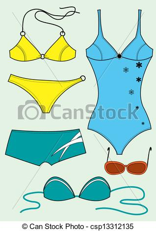Vectors of Swimsuits for woman.