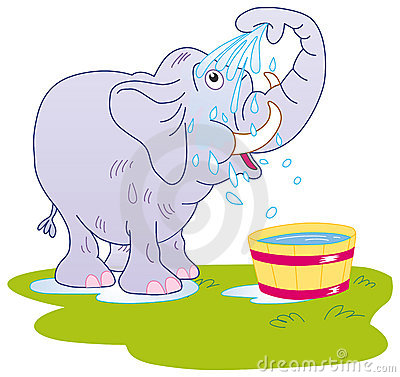 Elephant Taking Bath Stock Photos, Images, & Pictures.