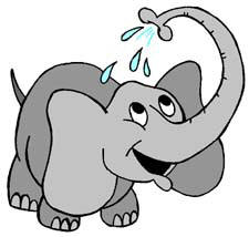 Elephant bathing clipart.
