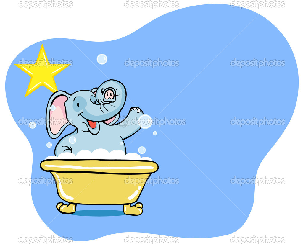 Elephant Bath Star — Stock Vector © cteconsulting #3985478.