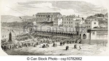 Stock Illustration of Biarritz.