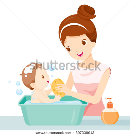 Bathing Stock Photos, Royalty.