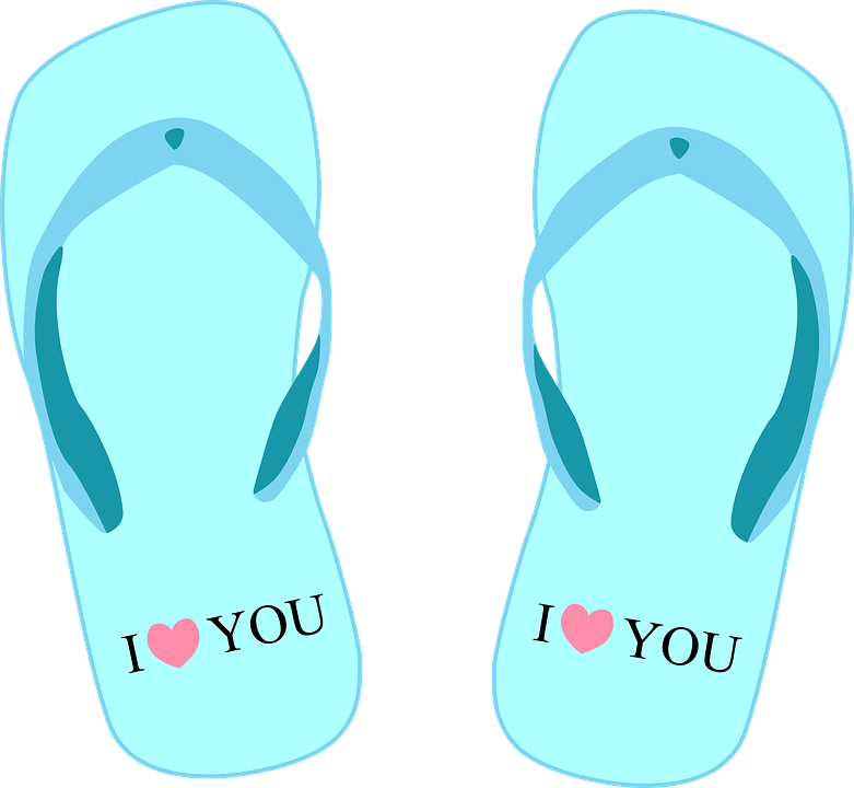 Free vector graphic: Bathing Shoe, Thongs, Slippers.