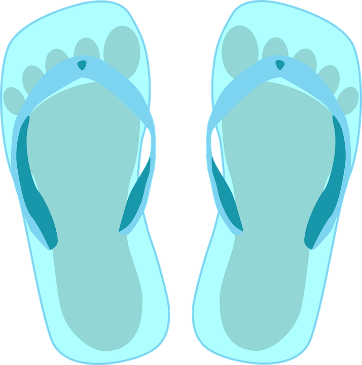 Free vector graphic: Slippers, Bathing Shoe, Thongs.