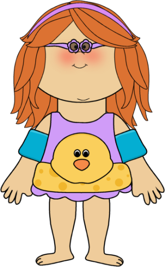 Bathing suits for kids clipart.