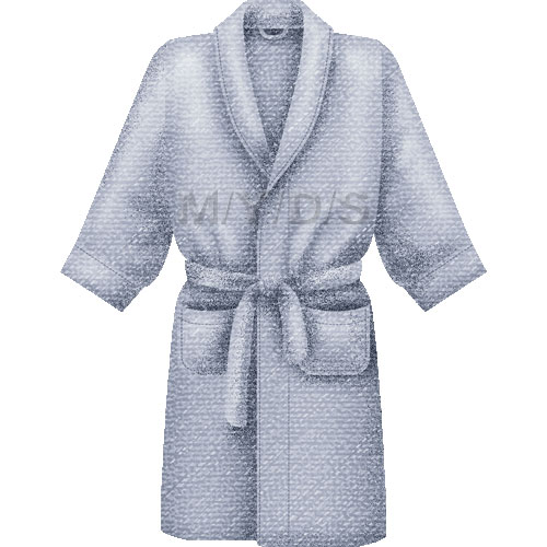 Bathrobe, Dressing Gown or Housecoat clipart / Free clip art.