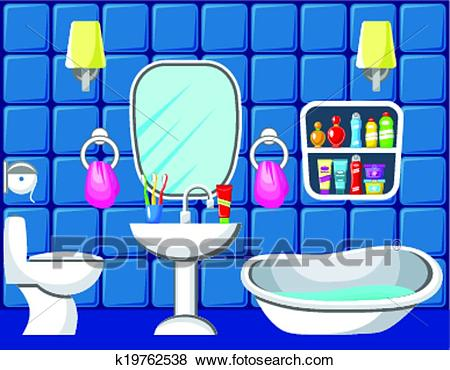 Bathroom. Clip Art.