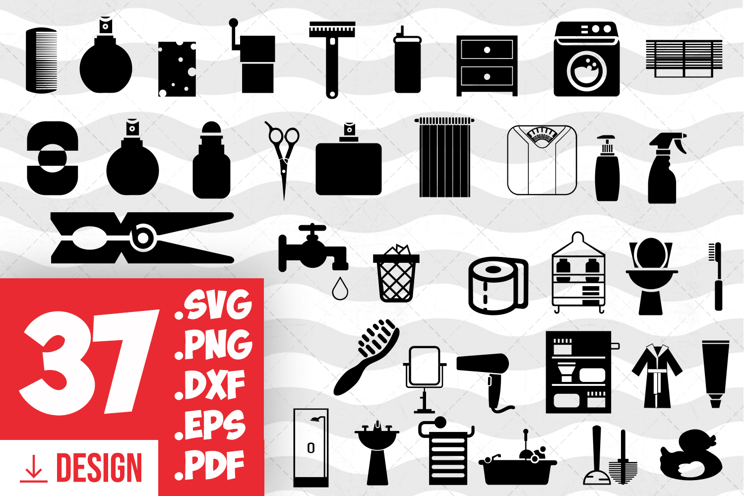 Bathroom clipart bathroom things silhouette bath things png.