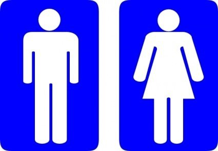 Toilet Signs Clipart Graphic.