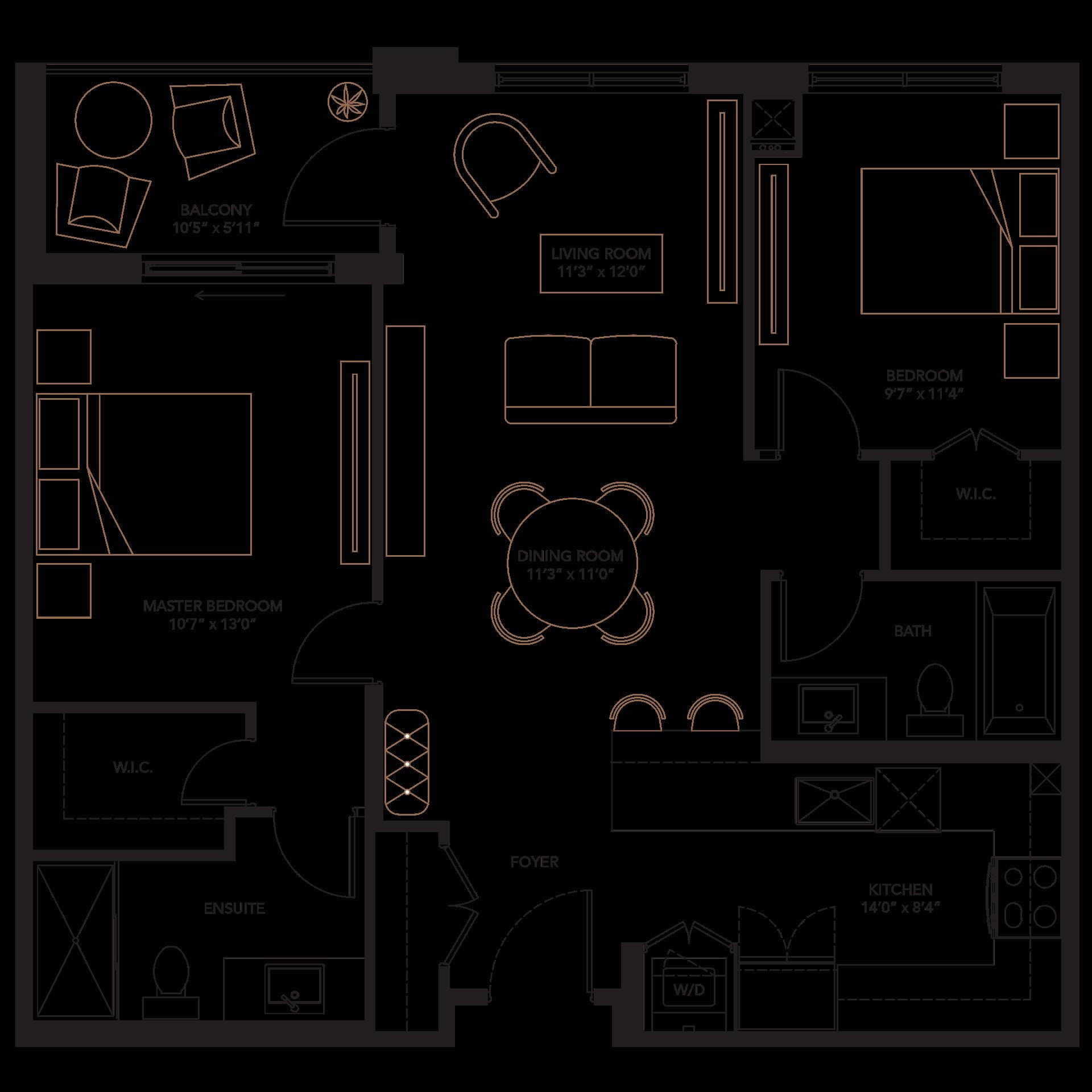 Furniture clipart floor plan, Furniture floor plan.