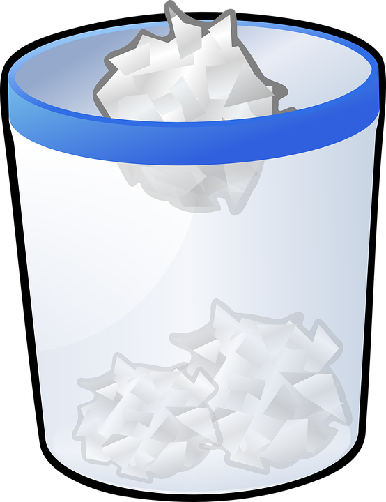 773 Trash Can free clipart.
