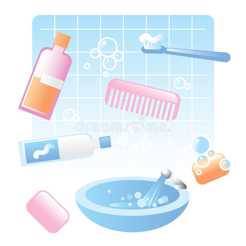 Hygiene Items Stock Illustrations.