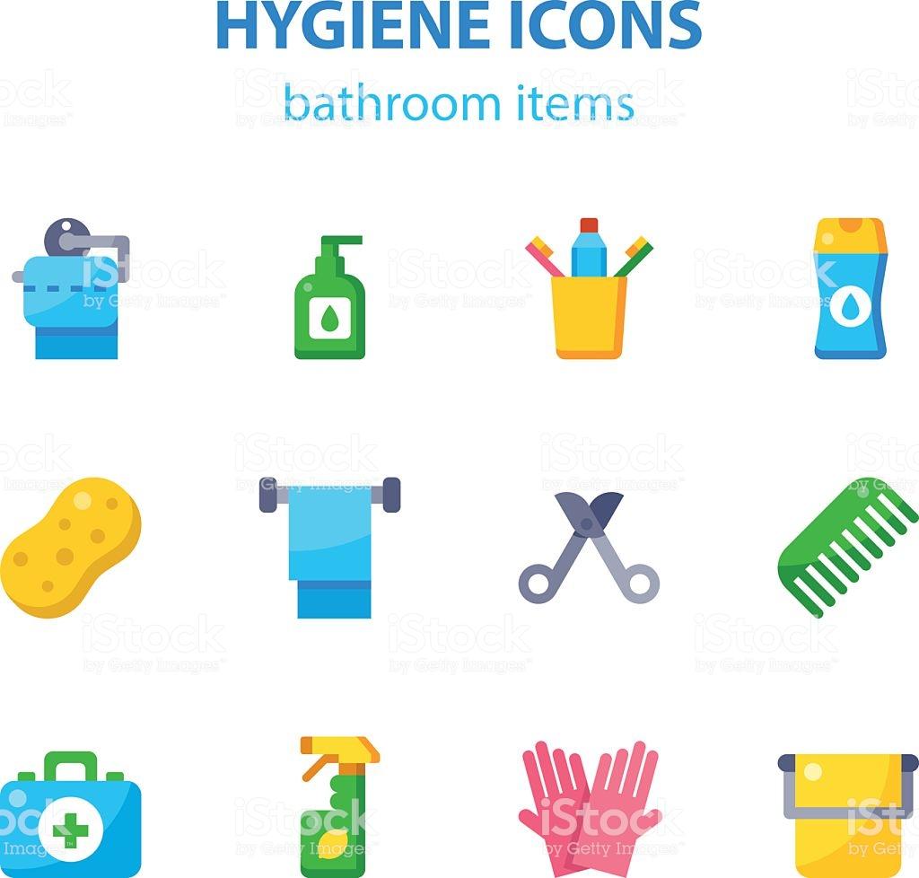 Bathroom Items Stock Illustration.