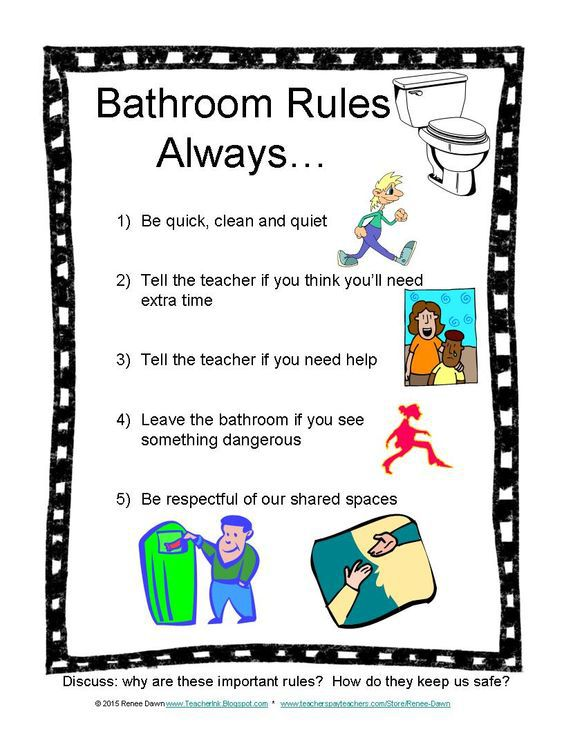 Bathroom Rules Clipart Clipground