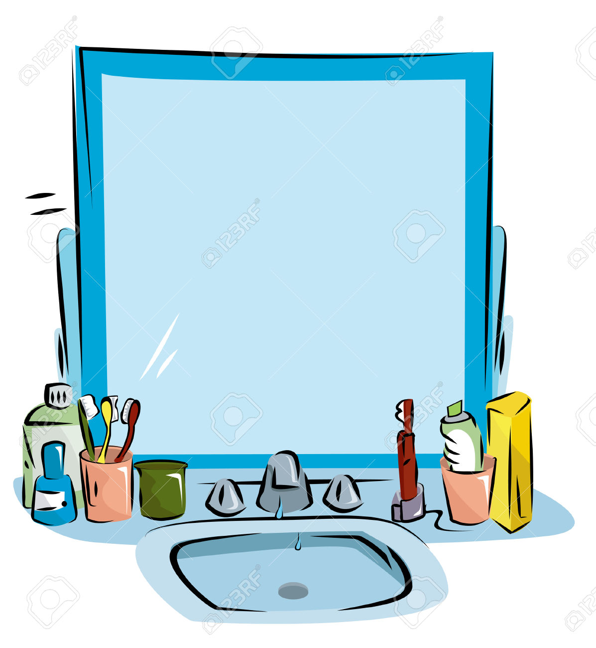 Bathroom Sink Clipart Clipground
