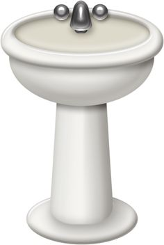 Toilet and sink clipart.