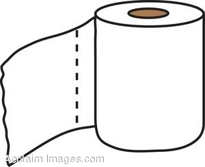 Clip Art Picture a Roll of Toilet Tissue.