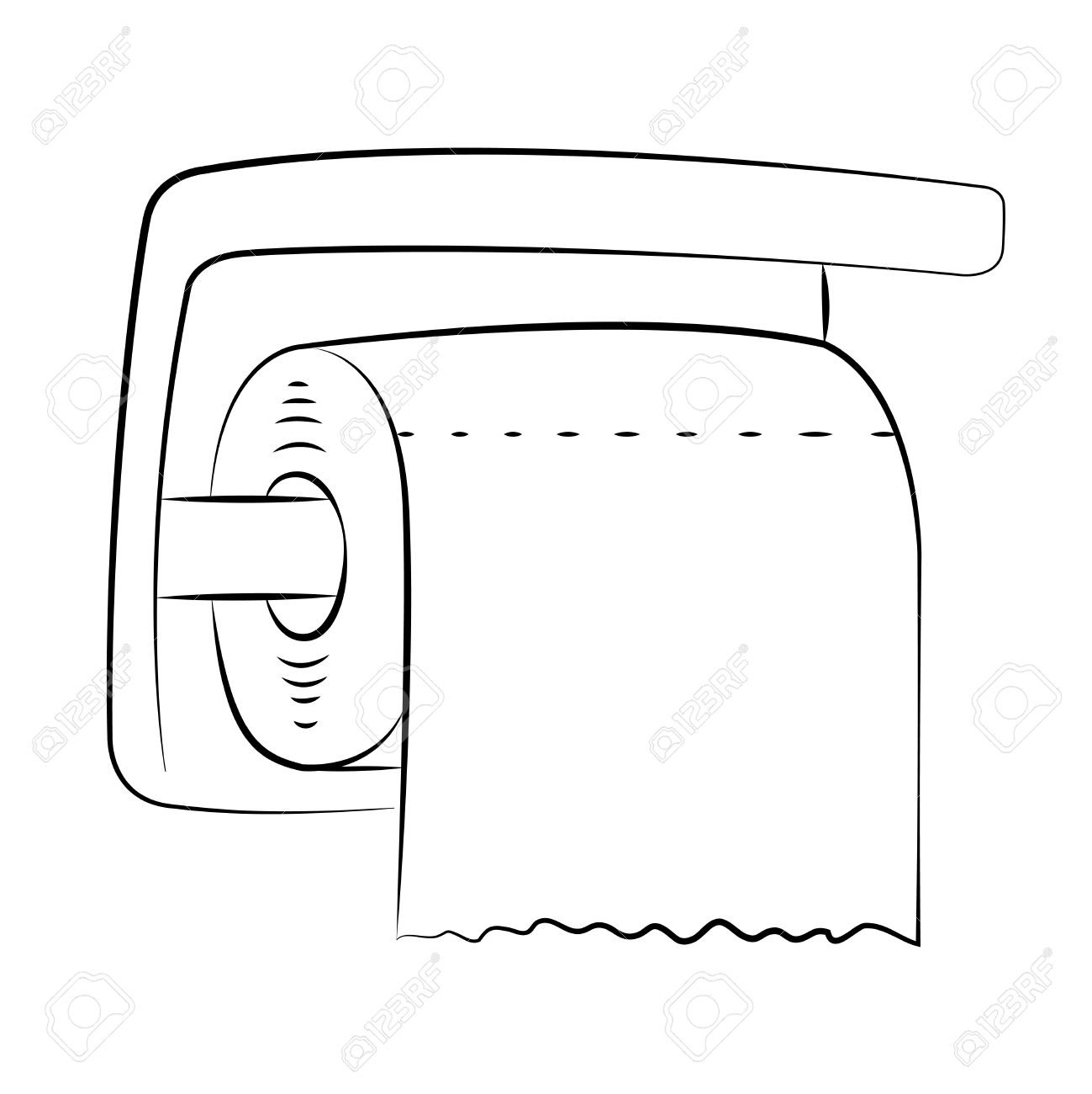toilet paper clipart black and white wwwpixsharkcom