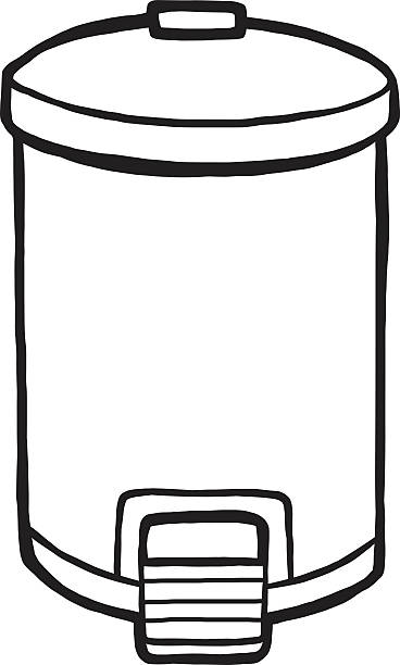 778 Trash Can free clipart.