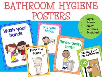 Bathroom Hygiene Posters.