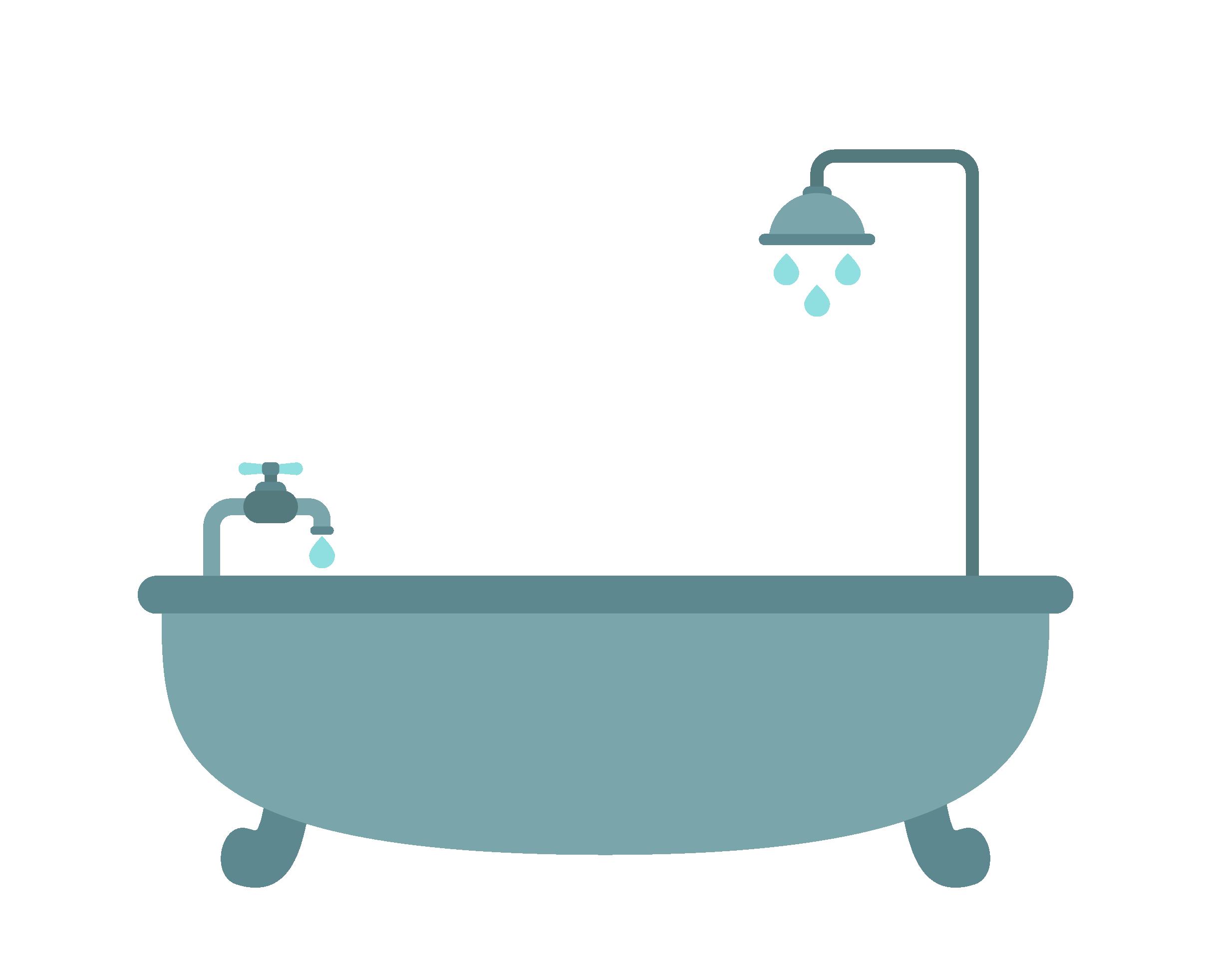 Bathtub Shower Bathroom.
