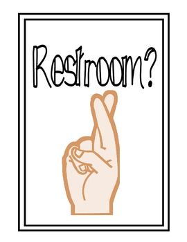 Restroom Hand Signals Worksheets & Teaching Resources.
